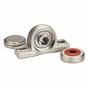 "Pillow Block Bearing, Number of Bolts: 2, 1-7/16"" Bore Dia."