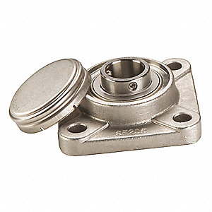 "4-Bolt Flange Bearing with Ball Bearing Insert and 1-1/4"" Bore Dia."