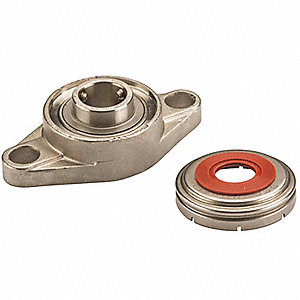 "2-Bolt Flange Bearing with Ball Bearing Insert and 1-1/4"" Bore Dia."