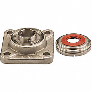 "4-Bolt Flange Bearing with Ball Bearing Insert and 2-3/16"" Bore Dia."