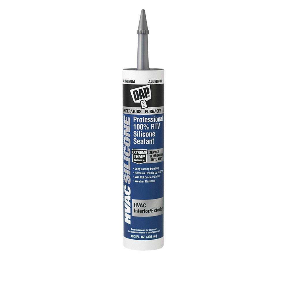 Dap Waterproof Rtv Silicone Sealant 40 To 475 F Temp Range Full Cure 24 Hr Gray 10 3 Oz 406w24 08012 Grainger