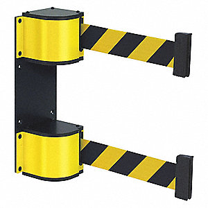 Lavi Dual Retractable Belt Barrier Black And Yellow