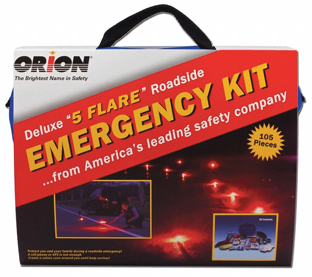 Roadside Emergency Kit, 105 pcs.