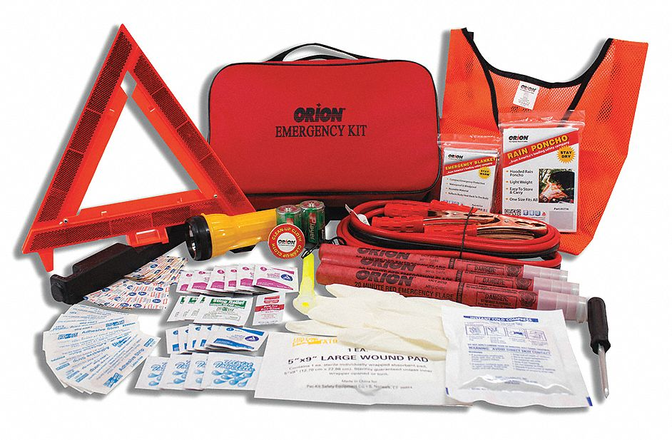 Roadside Emergency Kit, 81 pcs.
