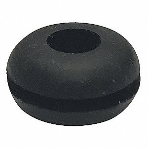 "Style 1 Rubber Grommet, 5/16"" I.D., 5/8"" O.D., 3/32"" Panel Thickness, PK50"