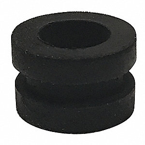 "Style 1 Rubber Grommet, 3/8"" I.D., 5/8"" O.D., 1/8"" Panel Thickness, PK50"