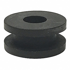 "Style 1 Rubber Grommet, 5/16"" I.D., 13/16"" O.D., 3/16"" Panel Thickness, PK50"