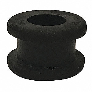 "Style 1 Rubber Grommet, 1/2"" I.D., 1"" O.D., 3/8"" Panel Thickness, PK25"