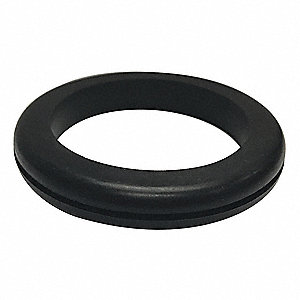 "Style 1 Rubber Grommet, 2-1/8"" I.D., 2-7/8"" O.D., 1/16"" Panel Thickness, PK25"