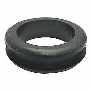 "Style 1 Rubber Grommet, 1-1/4"" I.D., 1-3/4"" O.D., 1/4"" Panel Thickness, PK25"