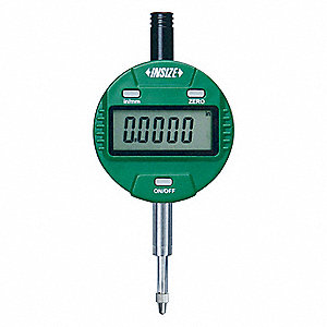 "Electronic Digital Indicator, 1""/25.4mm Range, 0.00005""/0.001mm Resolution, 0.00015"" Accuracy"