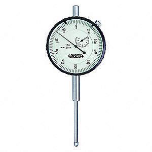 "Continuous Reading Dial Indicator, AGD 3, 2.992"" Dial Size, 0 to 2"" Range"