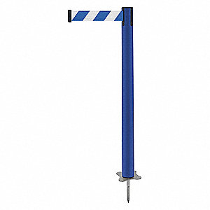 "Spike Post, Blue Post, 43"" H"