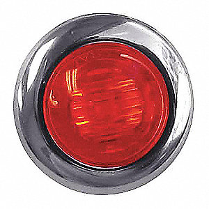 BUTTON LED 3 WIRE 3 DIODE RED