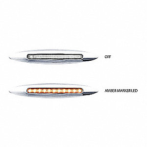 LAMP FLATLINE LED 6IN SLM 9D CL/AMB