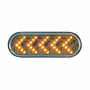 LAMP OVAL-SEQ LED 35D CLR/AMB