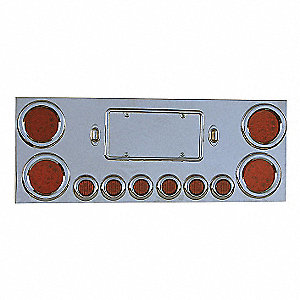 PANEL CENTER UNIV 4X4IN 6X2IN LEDS