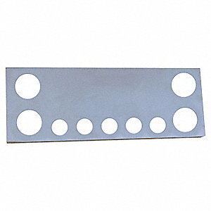 PANEL CTR UNIV 4X4IN 5X2-1/2IN HOLE