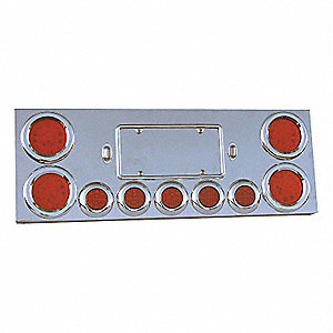 PANEL CTR UNIV 4X4IN 5X2-1/2IN LEDS