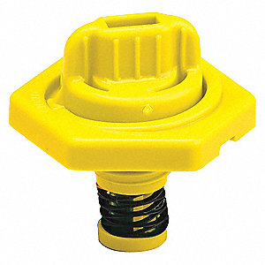 HDPE Breather Vent, Yellow; For Use With Lubricating Fluids