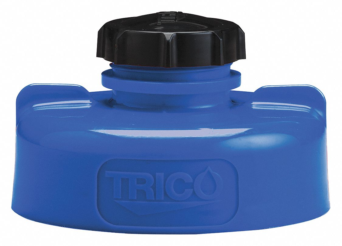 HDPE Storage Lid, Blue; For Use With Lubricating Fluids