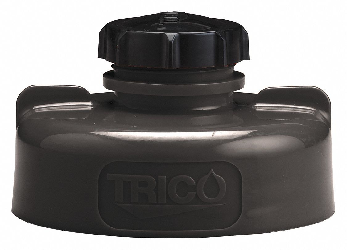 HDPE Storage Lid, Black; For Use With Lubricating Fluids