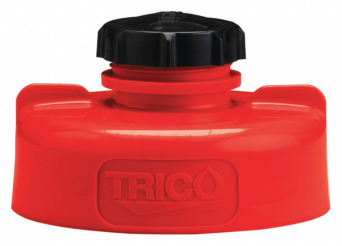 HDPE Storage Lid, Red; For Use With Lubricating Fluids
