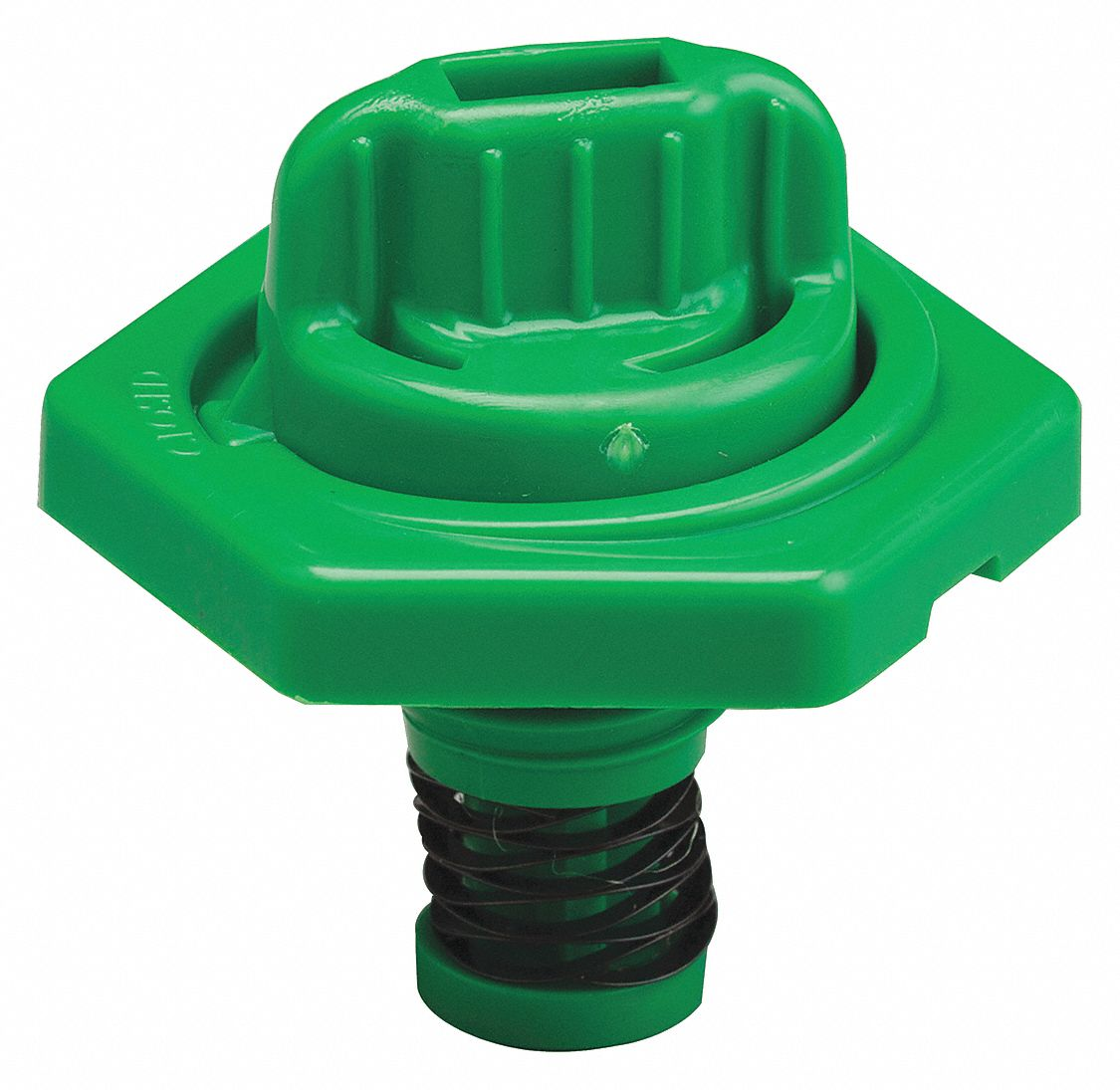 HDPE Breather Vent, Green; For Use With Lubricating Fluids