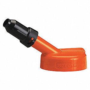 HDPE Storage Lid, Orange; For Use With Lubricating Fluids