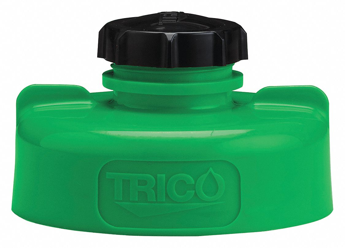 HDPE Storage Lid, Green; For Use With Lubricating Fluids