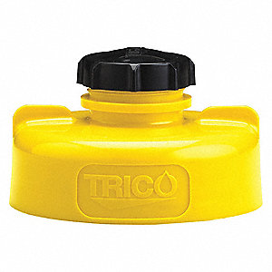HDPE Storage Lid, Yellow; For Use With Lubricating Fluids