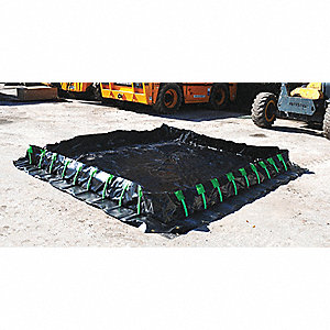 Stake Wall Containment Berm,748gal