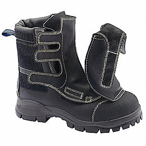 "6""H Men's Smelter Safety Boot, Steel Toe Type, Black, Size 8EEE"