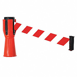 "Retracta-Cone Topper, Orange, 120"" x 2-1/2"" x 9-1/2"", 1 lb., Plastic"