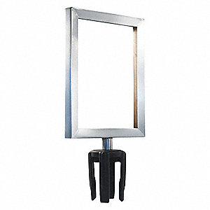 Sign Frame,11in.Hx8-1/2in.L,Satin Chrome