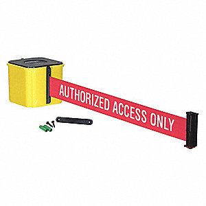 Retractable Belt Barrier,Yellow,25 ft.