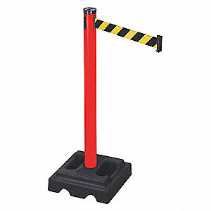 Belt Barrier,Black/Yellow,Square,PVC