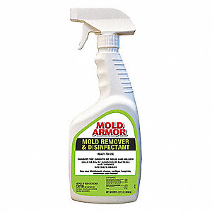 Mold Armor Mildew And Remover 32 Oz Trigger Spray Bottle Unscented Liquid 1 Ea 40cp12 Fg552 Grainger
