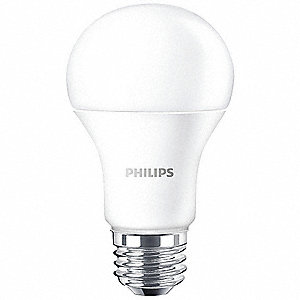 8.0 Watts LED Lamp, A19, 5000K Bulb Color Temp.