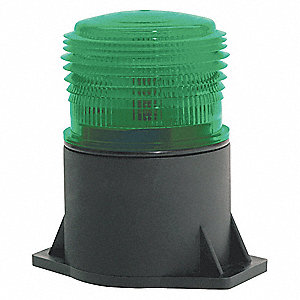 Strobe Light,LED,Green,Flange Mount