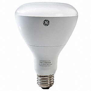 10.0 Watts LED Lamp, BR30, Medium Screw (E26), 700 Lumens, 3000K Bulb Color Temp.