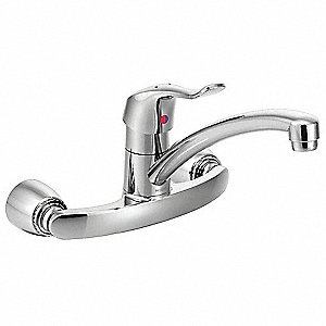 Low Arc Kitchen Sink Faucet, Joystick Faucet Handle Type, 1.50 gpm, Chrome