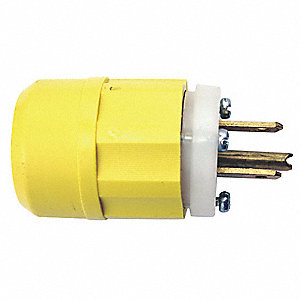 Straight Blade Plug, 20 Amps, 125VAC Voltage, NEMA Configuration: 5-20P, Number of Poles: 2