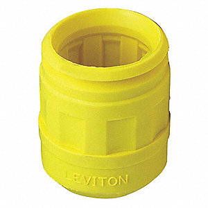 Connector Boot, Thermoplastic Elastomer, Yellow, For Use With 15 and 20 Amp Straight Blade Plugs