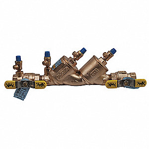 Double Check Valve Assembly, Lead Free Bronze, Apollo 4ALF-100 Series, FNPT Connection