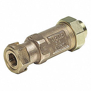 Dual Check Valve,1/2 In,NPT,LF Bronze