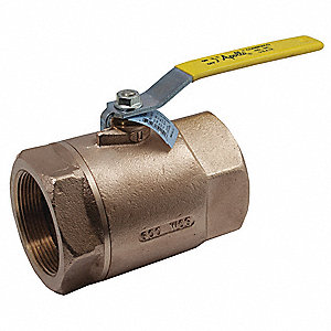 LF Bronze Ball Valve,Inline,FNPT,3/8 in