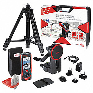 Laser Distance Meter Kit,LCD,1000 ft.