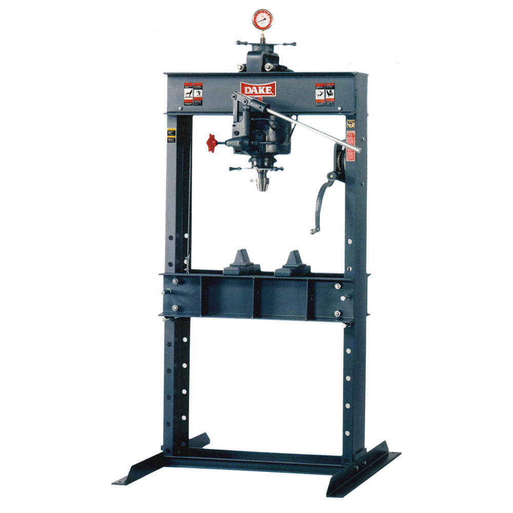 Hydraulic Press, Manual, H Frame, Single Action, 50 tons Frame Capacity,  40