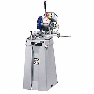 "20 HP Manual Cold Saw, 10"" Blade Dia., 1-1/4"" Arbor Size, Voltage: 110"